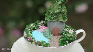 DIY Easy Mini Fairy Garden In A Teacup Tutorial ☀️ Summer Crafts