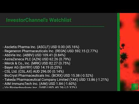InvestorChannel's Covid-19 Watchlist Update for Tuesday, O ... Thumbnail