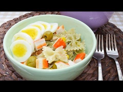 Ensalada de Pasta Fría con Atún y Huevo   Recetas Fáciles y Sanas