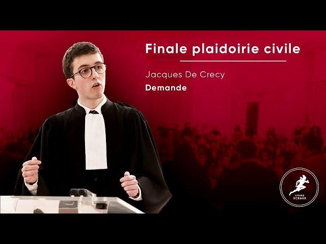 Jacques De Crecy Plaidoirie Civile Finale Lysias Sceaux 2020