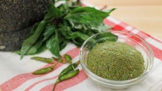 Green Curry Paste Recipe พริกแกงเขียวหวาน - Hot Thai Kitchen!