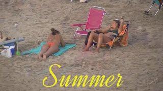 Summer in September in Spain  on the Mediterranean