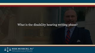Video thumbnail: What is the disability hearing writing phase?