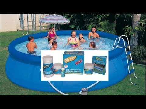 Advice & easy guide on swimming pool chemicals for above ground Intex & Bestway splasher pools