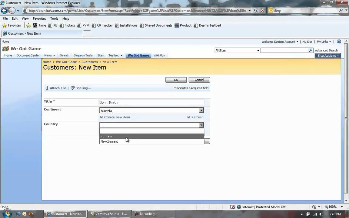 KWizCom SharePoint Cascaded Lookup and SharePoint Cascading fields