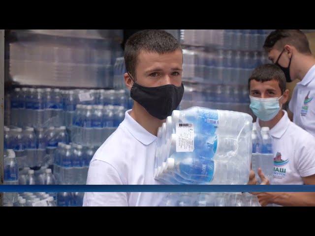 Волонтёры обеспечили больницу месячным запасом питьевой воды