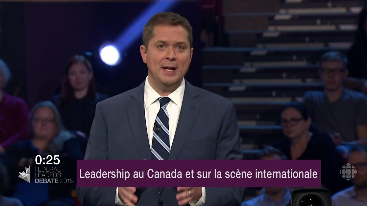 Maxime Bernier et Andrew Scheer débattent sur la représentation du Canada à l'étranger