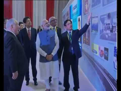 PM Modi, PM Abe of Japan visit exhibition booth, attend India-Japan Annual Summit