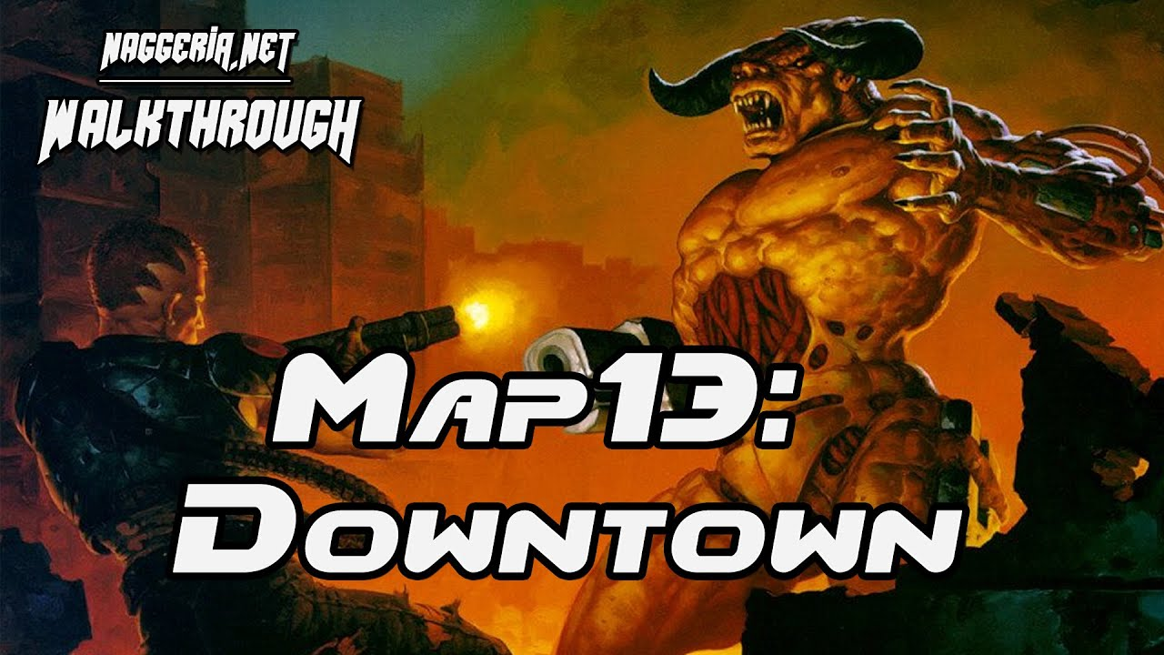 "[Doom 2 Komplettlösung] Map13: ""Downtown"" Walkthrough (Ultra-Violence)"