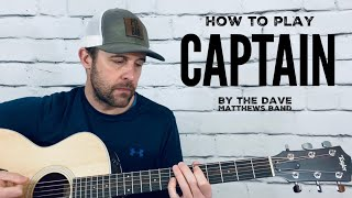 Captain-Guitar Tutorial-Dave Matthews Band