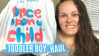 FALL & WINTER TODDLER BOY CLOTHING HAUL | Once Upon A Child Thrifted Childrens Clothing