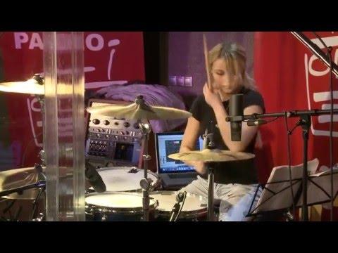 """Гильzа - Беги. Наше Радио. Программа """"Воздух"""". (drums - Виктория Ткаченко)"""
