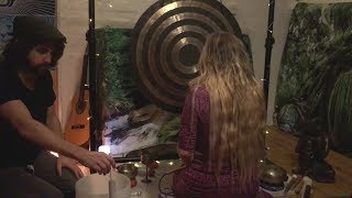 Sound Bath for Removing Negative Energy | Crystal Singing Bowl, Tibetan Bowls, Gong & Thunder box