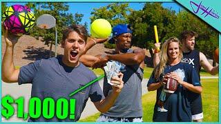 LONGEST THROW WINS $1,000 CHALLENGE!
