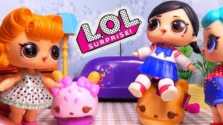 Куклы #ЛОЛ ВКУСНАЯ УБОРКА с йогуртами Num Noms LOL Surprise #Игрушки #Сюрпризы видео для детей