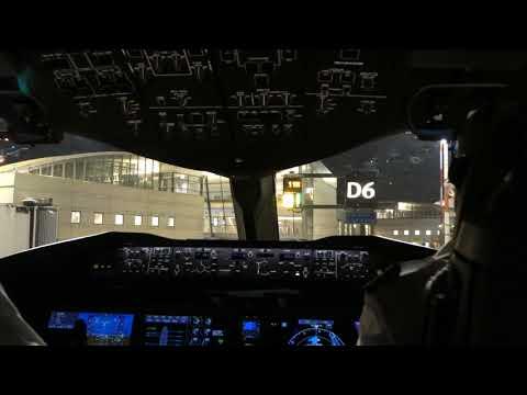 """מטוס נוסעים נכנס לחנייה בנתב""""ג. כך זה נראה מהקוקפיט"""