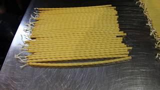 Алюминиевая форма на 15 мест для изготовления обычных церковных свечей №20 (Класс 4-й) от компании День свечника - видео