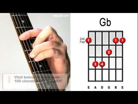 Gb Major - Guitar Chord Lesson - Easy Learn How To Play Bar Chords Tutorial