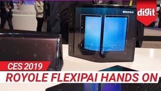 CES 2019: Royole FlexiPai Hands On | Digit.in