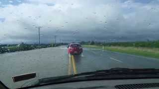 preview picture of video 'Flooding across SH1'