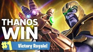Fortnite Thanos Victory Royale - Infinity Gauntlet Gameplay