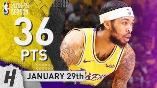 Brandon Ingram Full Highlights Lakers Vs 76ers 2019.01.29   36 Points, 5 Reb, 5 Ast