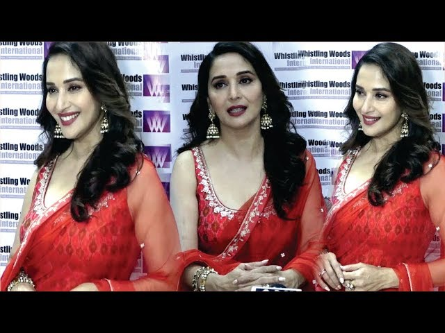 Madhuri Dixit Hot Gorgeous Look At Inaugural Session Of The 11th Season 5th Veda Cultural