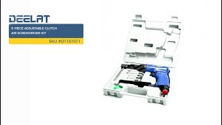 11 Piece Adjustable Clutch Air Screwdriver Kit     SKU #D1151511