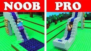 NOOB Vs PRO Water Slide Challenge Minecraft Animation