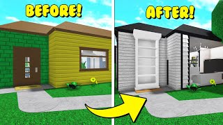 Renovating The Bloxburg Starter Home With EXPENSIVE Items ONLY! (Roblox)