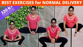 Exercises for Normal Delivery and Easy Labor | Third Trimester Exercises | #Mommyworld