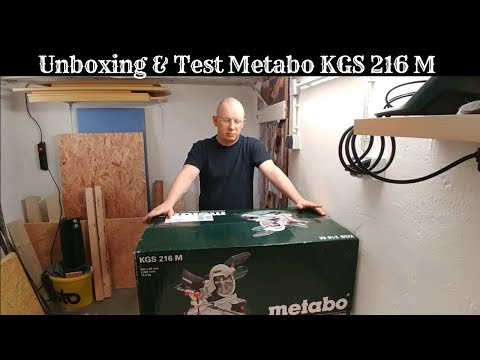 Unboxing + Test Metabo KGS 216 M Zug- & Kappsäge