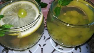 Освежающий напиток из ВИНОГРАДА ЛИМОНА и МЯТЫ. Летний напиток.