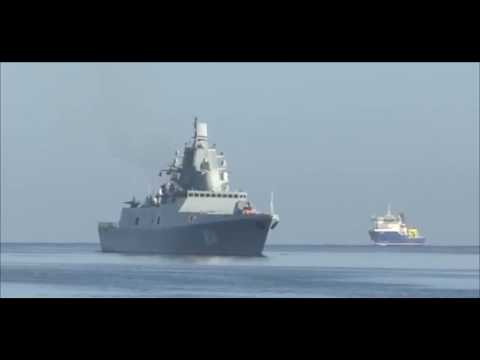 The frigate of the Northern Fleet of the Russian Navy enters the port of Cuba!  2019