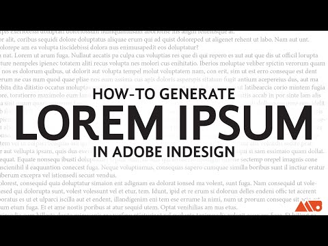How to Add Lorem Ipsum Text in Adobe InDesign Tutorial