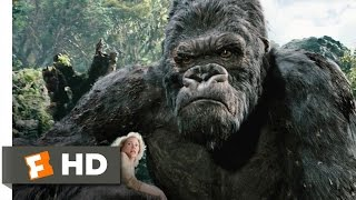 King Kong movie clips: http://j.mp/1uxK9LN BUY THE MOVIE: http://bit.ly/2mVbY1J Don't miss the HOTTEST NEW TRAILERS: http://bit.ly/1u2y6pr  CLIP DESCRIPTION: Trying to protect Ann (Naomi Watts), Kong fights off a whole pack of T-Rexes.  FILM DESCRIPTION: One of the greatest adventure stories in Hollywood history gets a new interpretation in this action drama from Academy Award-winning director Peter Jackson. In the early 1930s, Carl Denham (Jack Black) is a daring filmmaker and adventurer who has gained a reputation for his pictures documenting wildlife in remote and dangerous jungle lands; despite the objections of his backers, Denham plans to film his next project aboard an ocean vessel en route to Skull Island, an uncharted island he discovered on a rare map. Correctly assuming his cast and crew would be wary of such a journey, Denham has told them they're traveling to Singapore, but before they set sail, his leading lady drops out of the project. Needing a beautiful actress willing to take a risk, Denham finds Ann Darrow (Naomi Watts), a beautiful but down-on-her-luck vaudeville performer, and offers her the role; cautious but eager to work, Darrow takes the role, and onboard the ship she strikes up a romance with Jack Driscoll (Adrien Brody), a respected playwright hired by Denham to write the script for his latest epic.When Denham and company arrive on Skull Island, the natives react with savage violence, but they happen to be the least of their worries. Skull Island is a sanctuary for prehistoric life, and lording it over the dinosaurs and other giant beasts is Kong, a 25-foot-tall gorilla who can outfight any creature on Earth. The natives kidnap Darrow, giving her to Kong as an offering to appease the giant beast; Denham and his men set out to find her, with Driscoll bravely determined to save the woman he loves. Eventually, Driscoll finds Darrow and Denham outwits Kong, intending to take the giant ape back to New York for display. But Kong has bonded with 