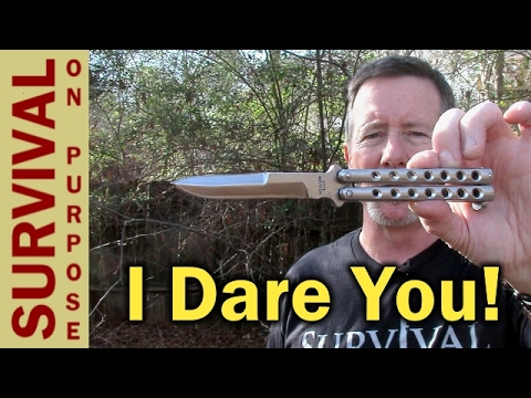USA Butterfly Knife – Schrade Manilla Folder Balisong Knife