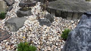 Ein Steingarten Mit Einem Bachlauf Aus Kunstfelsen
