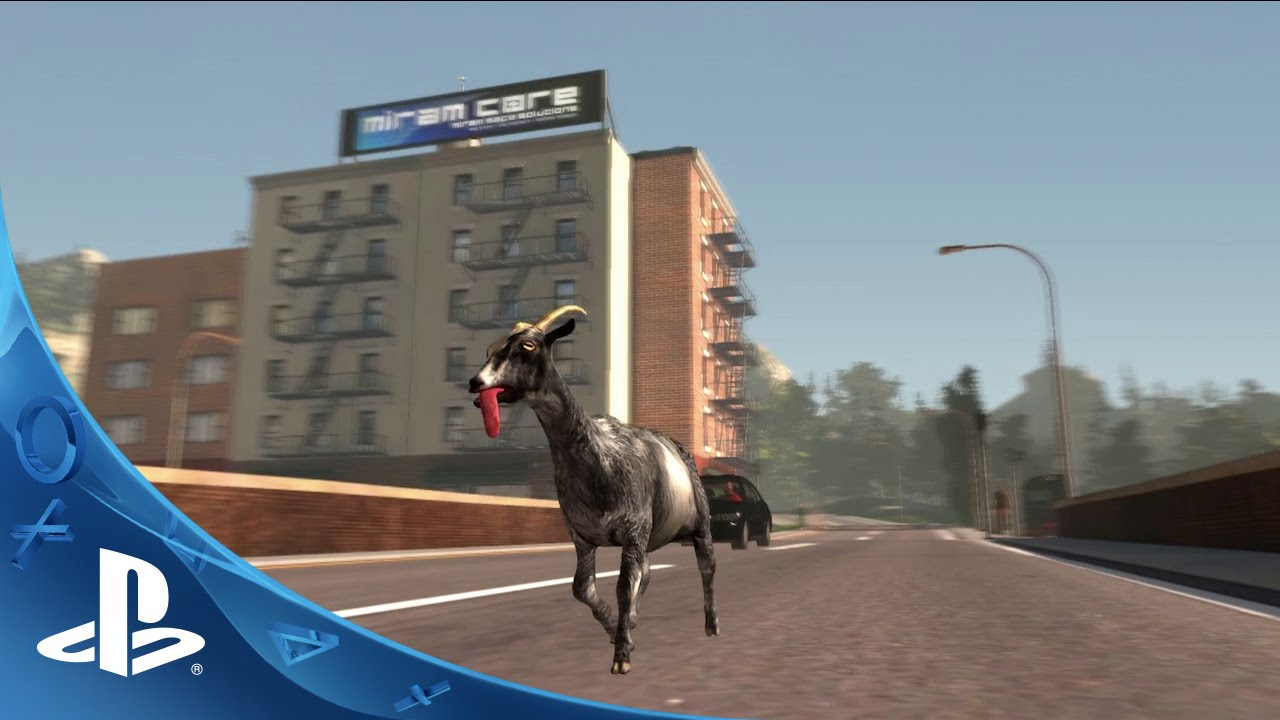 Goat Simulator Out Today on PS4, PS3