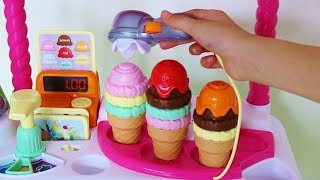 Learn colours numbers counting with toy ice cream cart and My Little Pony