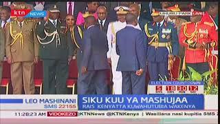 Deputy President William Ruto arrives at Uhuru park