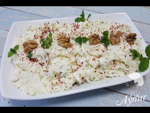 Sellerie Salat mit Joghurt Mayonnaise und Walnüssen I Cevizli Kereviz salatasi