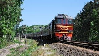 Железная дорога, тепловозы, видео поезда / Diesel locomotives, railway video compilation