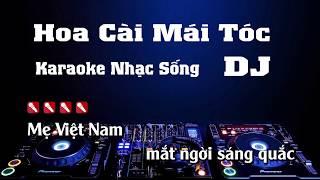 Hoa Cài Mái Tóc Karaoke Nhạc Sống Remix