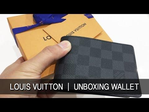 Louis Vuitton 2017 Review Mens Slender Wallet Unboxing LV