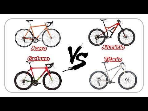 CARBONO, TITANIO, ALUMINIO o ACERO -  Material para bicis