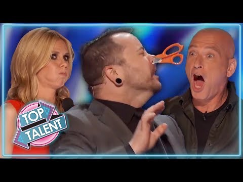 MOST DANGEROUS AUDITIONS EVER On America's Got Talent! | Top Talent (видео)