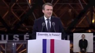 Discours d'Emmanuel Macron & Le chant des Partisans ( Maria Carmen )sur Lyrics Dodo