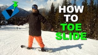 #34 Snowboard begginer – How to toe slide on snowboard