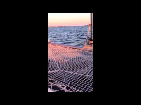 Windcat Winddancer vor Hiddensee - 9 Knoten